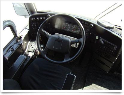Coach Interior Driver's steering.