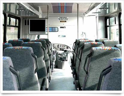 Mini Coach Interior Seating.