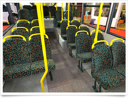 Modern Double-Decker Interior Seating.