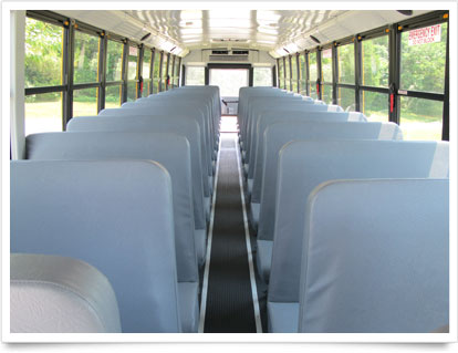 School Bus Interior Seating.