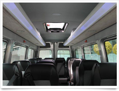 Executive Shuttle Interior Seating.
